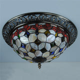 15 Inch Flush Mount Ceiling Light in Tiffany Style CL220