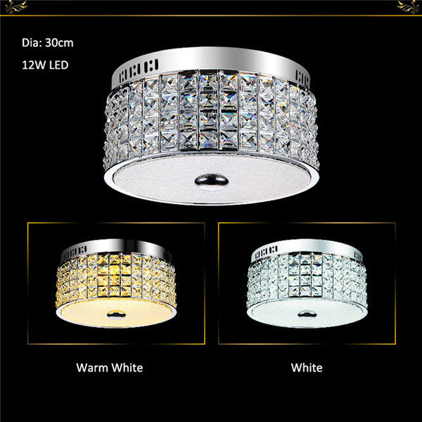 LED Modern Crystal Circular Luxury Ceiling Lamp CL222 - Cheerhuzz