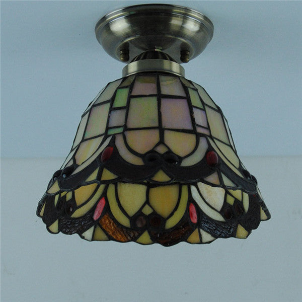 Retro Tiffany Stained Glass Ceiling Lamp CL224