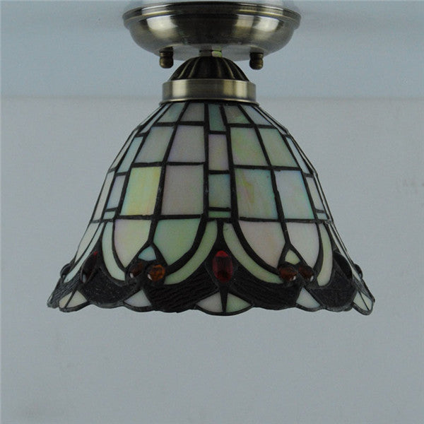 Retro Tiffany Stained Glass Ceiling Lamp CL224 - Cheerhuzz