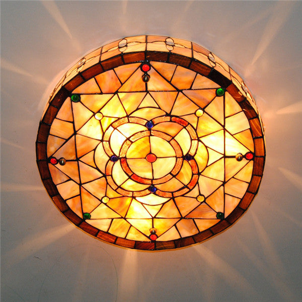 18 Inch Tiffany Ceiling Light Fixture CL233 - Cheerhuzz