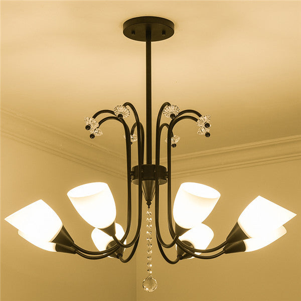 8 Lights Modern Glass Shade Ceiling Light CL237-8