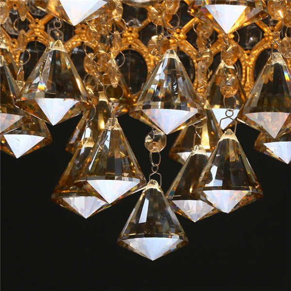 4 Lights Amber Crystal Flush Mount Light CL240