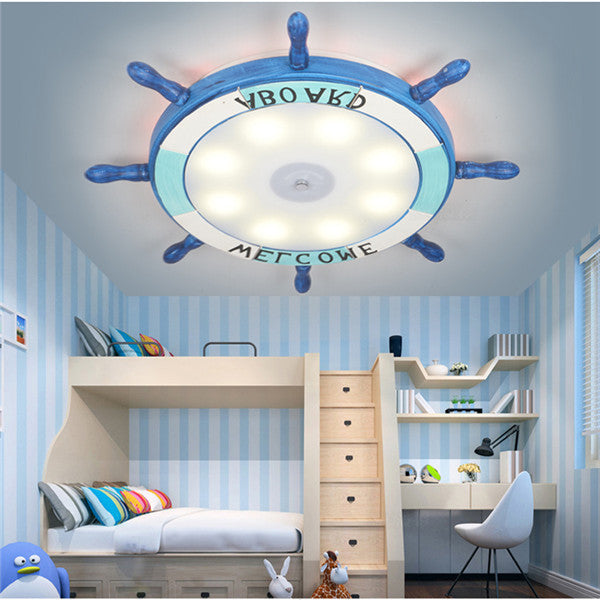 Cartoon LED Rudder Flush Mount Lamp CL242