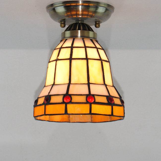 Antique Tiffany Lamps Stained Glass Ceiling Light CL245 - Cheerhuzz