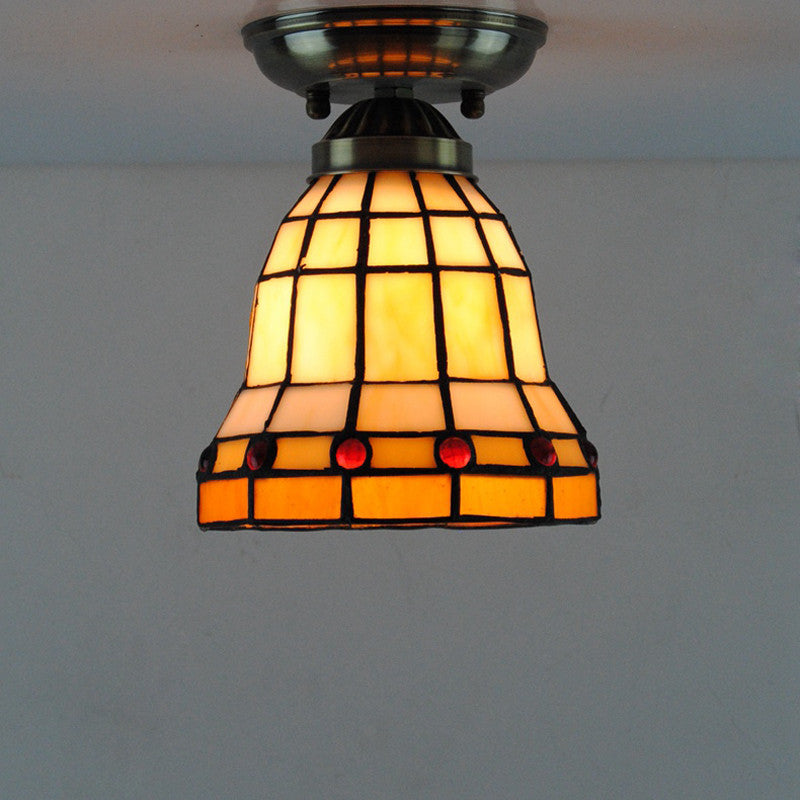 Antique Tiffany Lamps Stained Glass Ceiling Light Cl245 Cheerhuzz