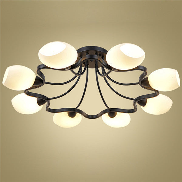 Modern Black Metal 8 Lights Ceiling Lamp CL246-8 - Cheerhuzz