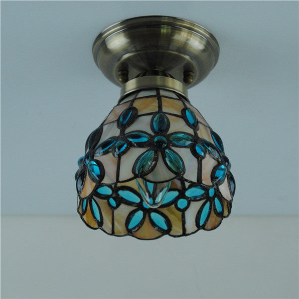 Tiffany Flower Stained Glass Ceiling Light CL253 - Cheerhuzz