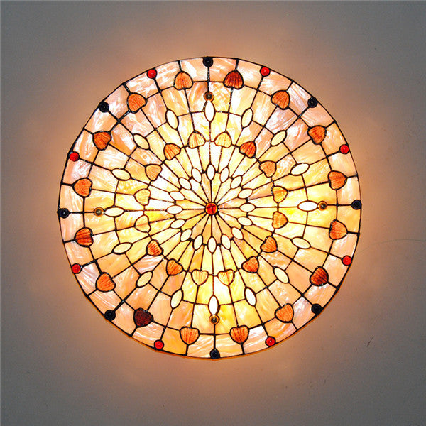 Tiffany Drum Shell Ceiling Light CL258