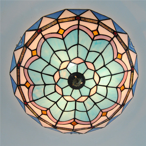 "16"" Tiffany Style Ceiling Lights Stained Glass Shade CL265 - Cheerhuzz"