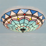 "16"" Tiffany Blue&White Flush Mount Lamp CL265"