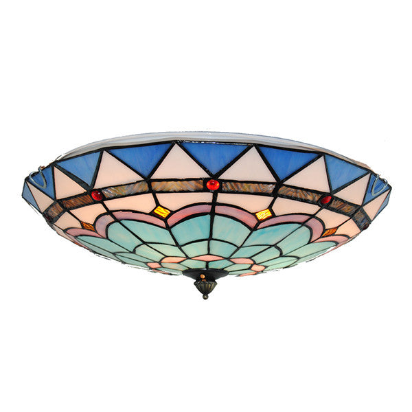 "16"" Tiffany Style Ceiling Lights Stained Glass Shade CL265"