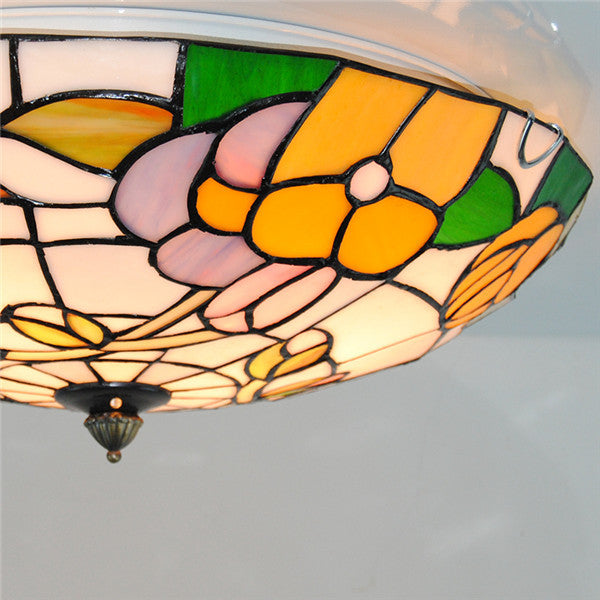 Tiffany Flower Pattern Stained Glass Ceiling Light CL267