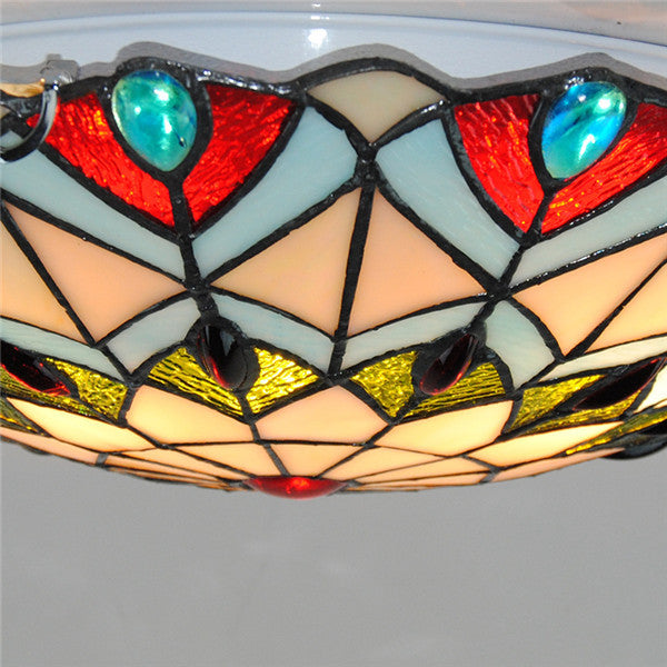European Peacock Tail Flush Mount Lights CL268