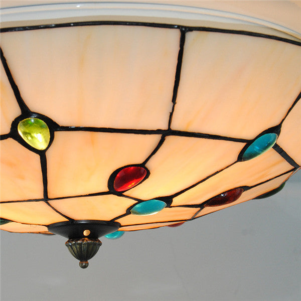 Tiffany stained glass ceiling lamp cl270 cheerhuzz tiffany stained glass ceiling lamp cl270 mozeypictures Images