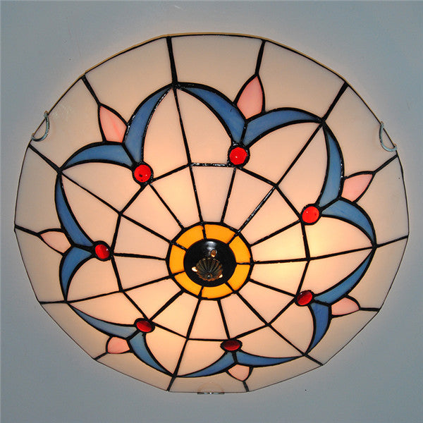 Simple Blue Grass Pattern Flush Mount Lights CL272