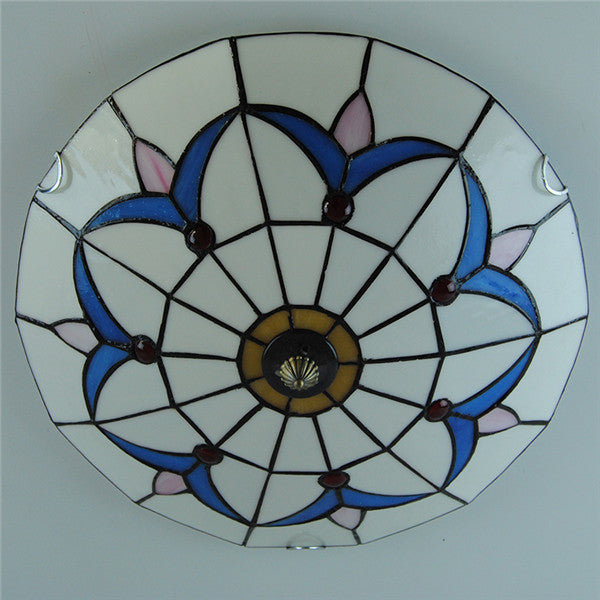 Simple Blue Grass Pattern Flush Mount Lights CL272 - Cheerhuzz