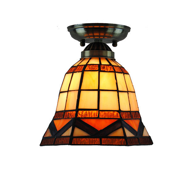 Vintage Stained Glass Shade Ceiling Lamp CL275