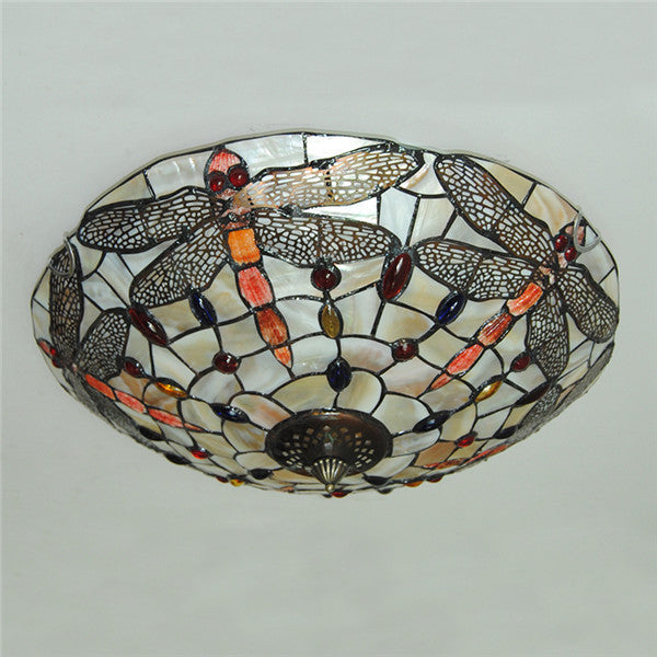 Tiffany Style Dragonfly Ceiling Light CL282 - Cheerhuzz
