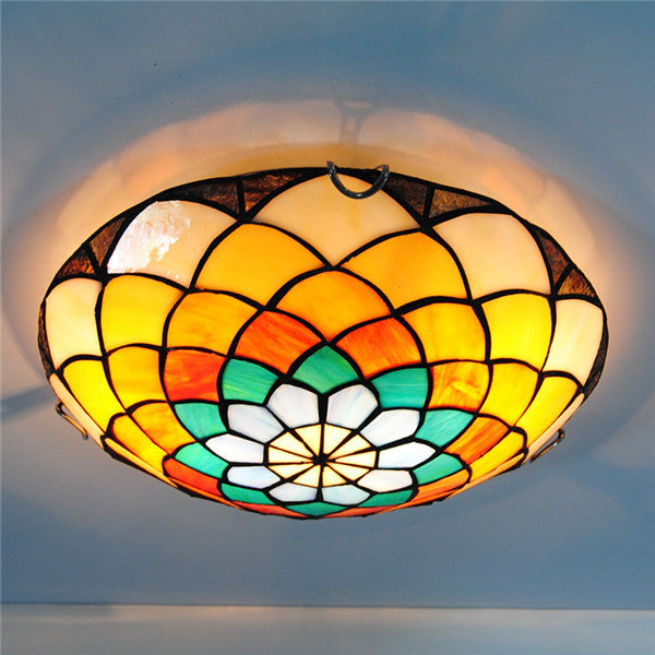Mediterranean Stained Glass Chandelier CL284 - Cheerhuzz