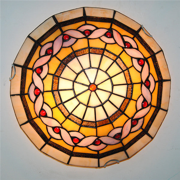 Antique Tiffany Stained Glass Ceiling Lamp CL286