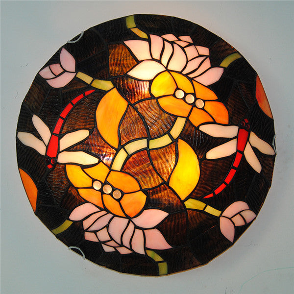 "12""/16"" European Dragonfly Pattern Ceiling Light CL288 - Cheerhuzz"