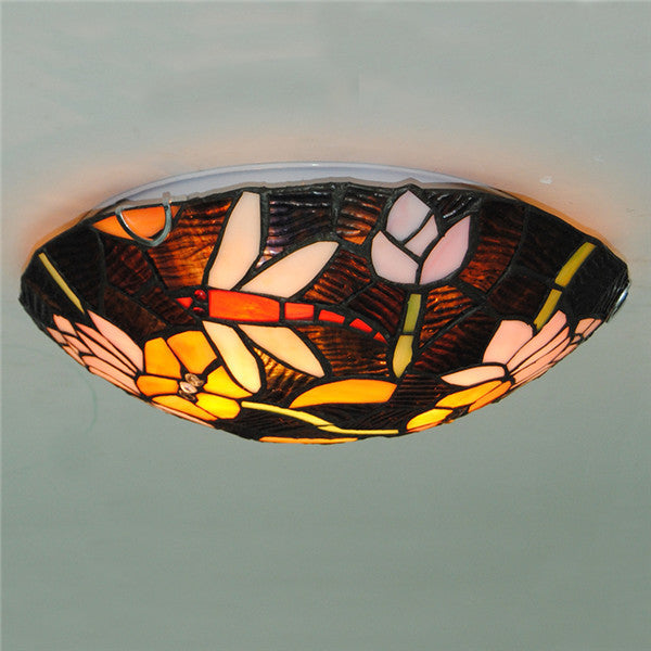 "12""/16"" European Dragonfly Pattern Ceiling Light CL288"