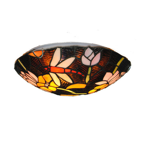 "12"" Tiffany Stained Glass Flush Mount Light CL287"