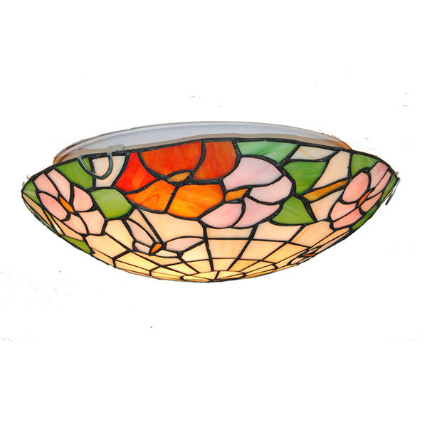 12/16 Inch Tiffany Butterfly Lamp Flowers Pattern Ceiling Light CL290