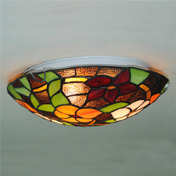 2/3 Lights Tiffany Flowers Pattern Ceiling Light CL291