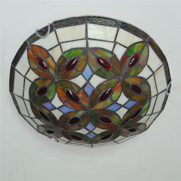 Classic Leaf Stained Glass Ceiling Lamp CL292 - Cheerhuzz