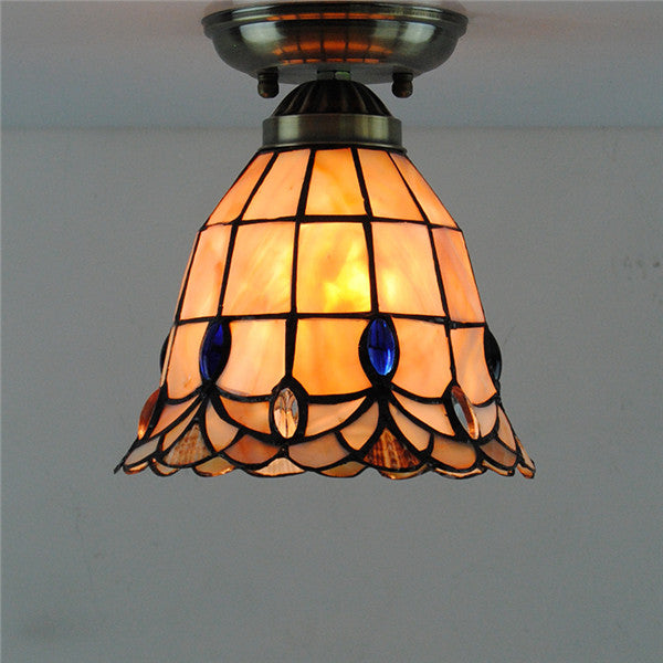 Brief Stained Glass Hanging Lamps CL297