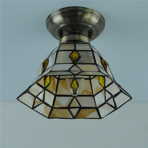 Tiffany Style Hexagon Stained Glass Ceiling Lamps CL298