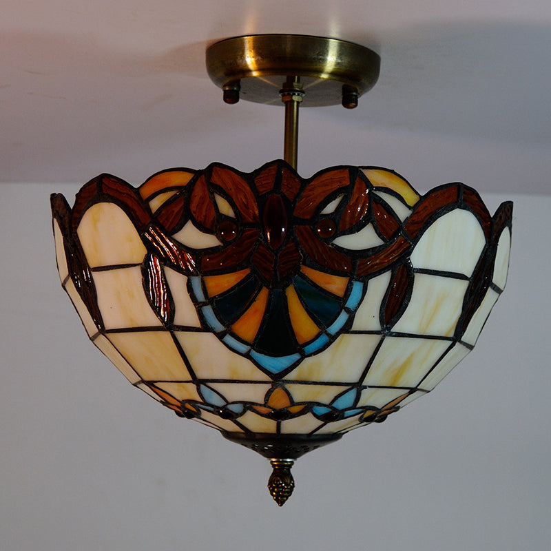 12-inch Baroque Style Tiffany Ceiling Lights CL323