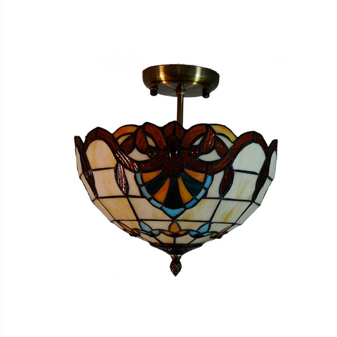 Wooden Glass Ceiling Lamp CL114