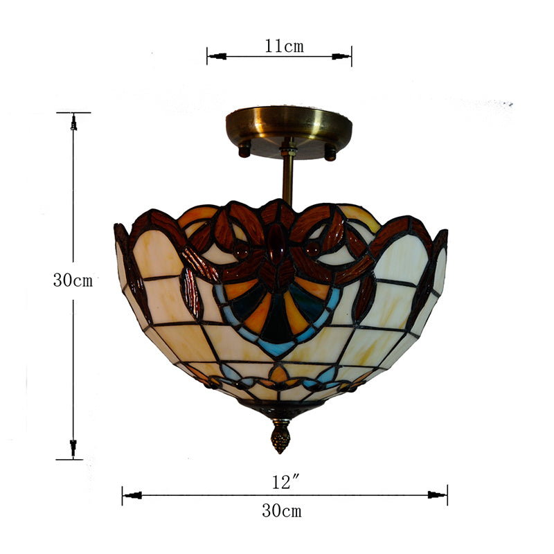 12-inch Baroque Style Tiffany Ceiling Lights CL323 - Cheerhuzz