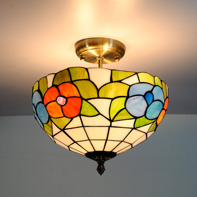 12-inch European Flower Pattarn Ceiling Lamp CL324