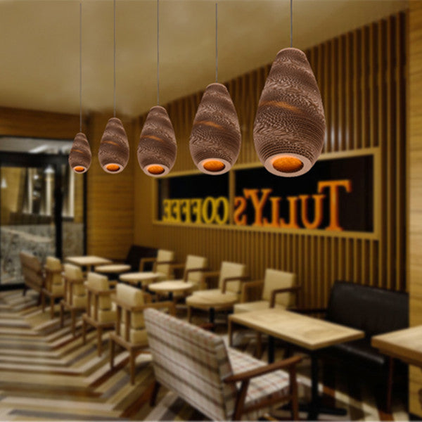 Handmade Brown Corrugated Paper Drop Scraplight PL295 - Cheerhuzz