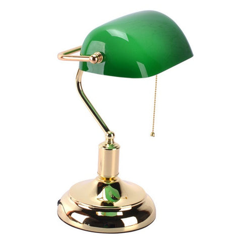 Traditional Green Shade Bankers Lamp TL97