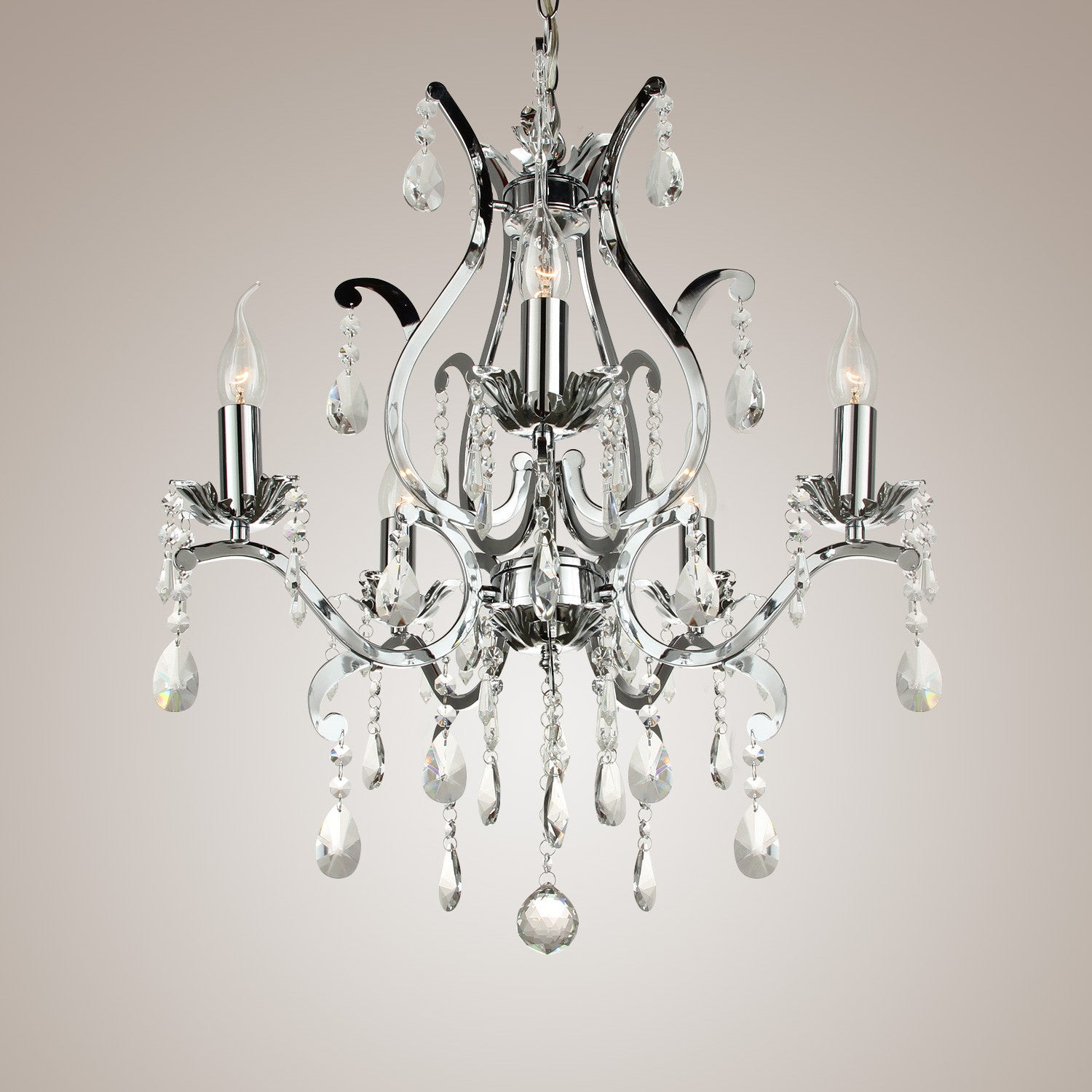 Crystal Wrought Iron Chandelier LED Lamp PL432