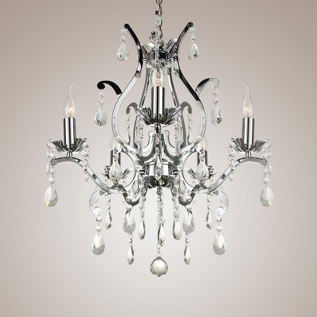 Crystal Wrought Iron Chandelier LED Lamp PL432 - Cheerhuzz