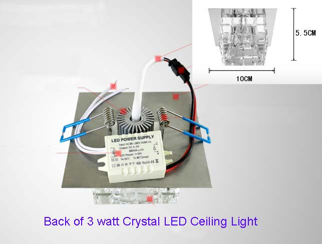 LED Crystal Ceiling Light L89