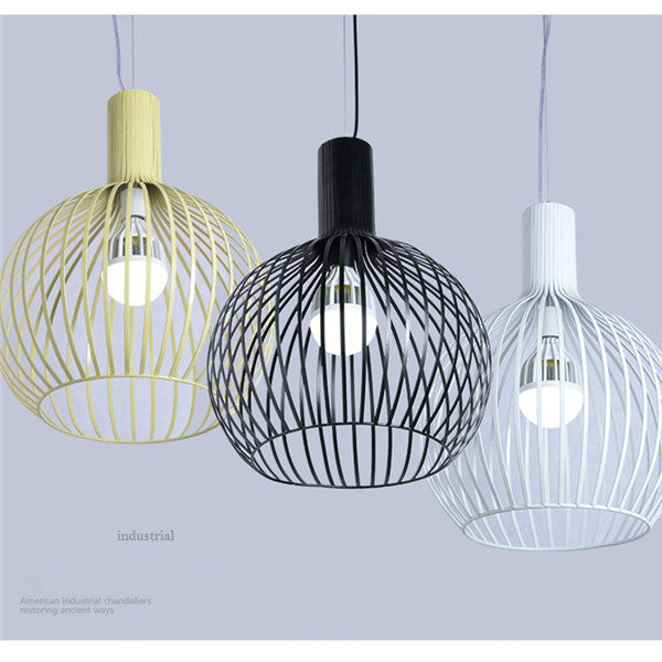Bird Cage Industrial DIY Metal Line Pendant Lamp LD046