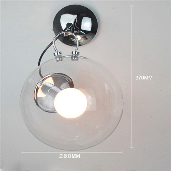 Modern Transparent Glass Ball Wall Sconces LW024-25 - Cheerhuzz