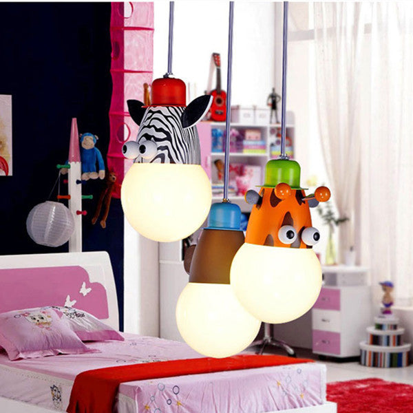 The Kidsplace Zebra Monkey Giraffe Pendant PL268-1 - Cheerhuzz