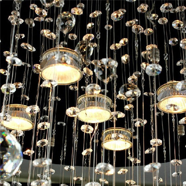 Modern Round Crystal Pendant Light PL338