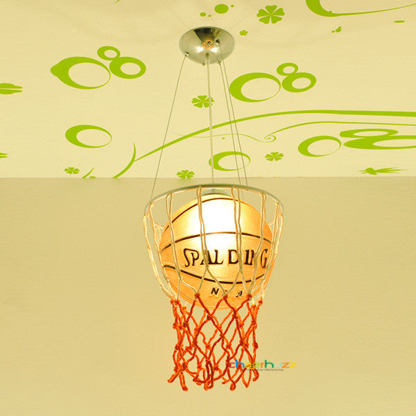 Kid's Glass Basketball Pendant Lamp PL351