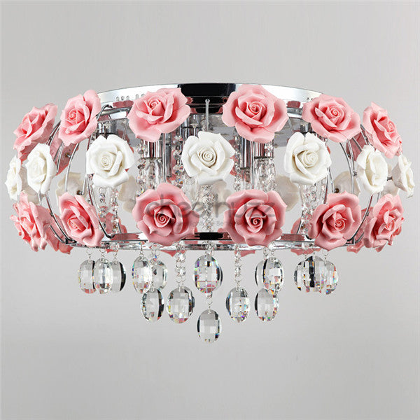 Drum Chandelier Flower Pendant Lamp PL435 - Cheerhuzz