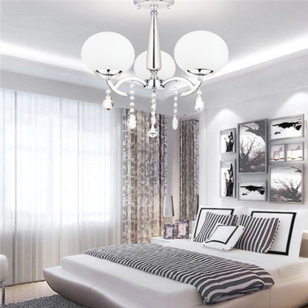 Crystal 3 Light Chandelier Ceiling Lamp PL439-3 - Cheerhuzz