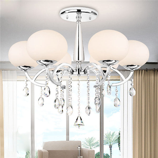 Crystal 6 Lights Chandelier Ceiling Lamp PL439-6 - Cheerhuzz
